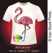 Free vector manly clipart t shirt art banner White t-shirt with a skull. T-shirt with a creative art print - a ... banner