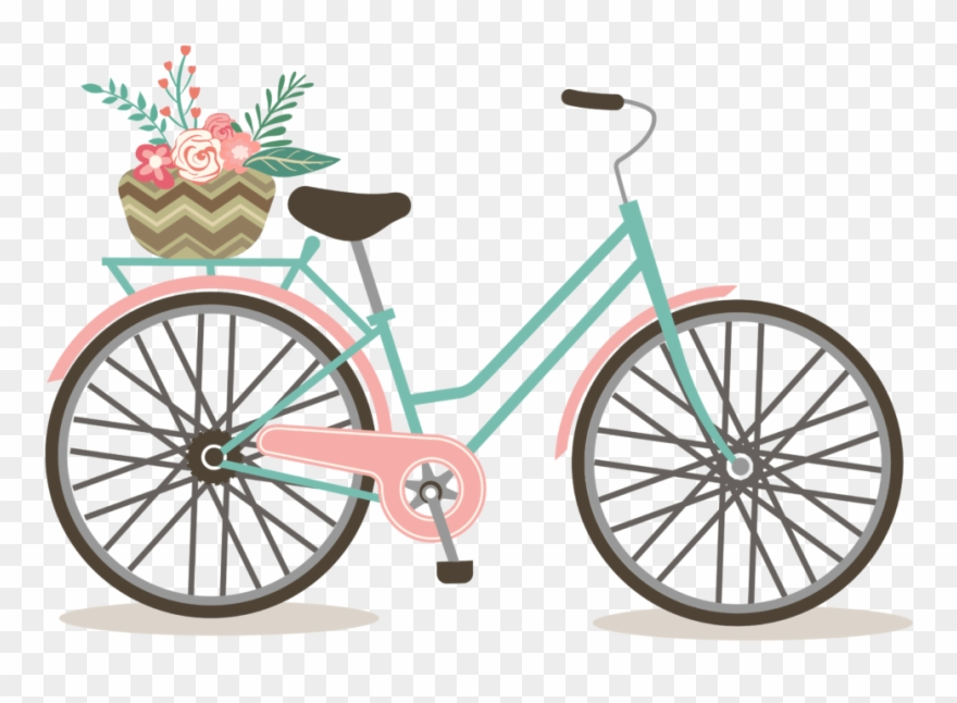 Vintage bike clipart graphic free library Vintage Cycling Clip Art - Free Bicycle Clip Art - Png Download ... graphic free library