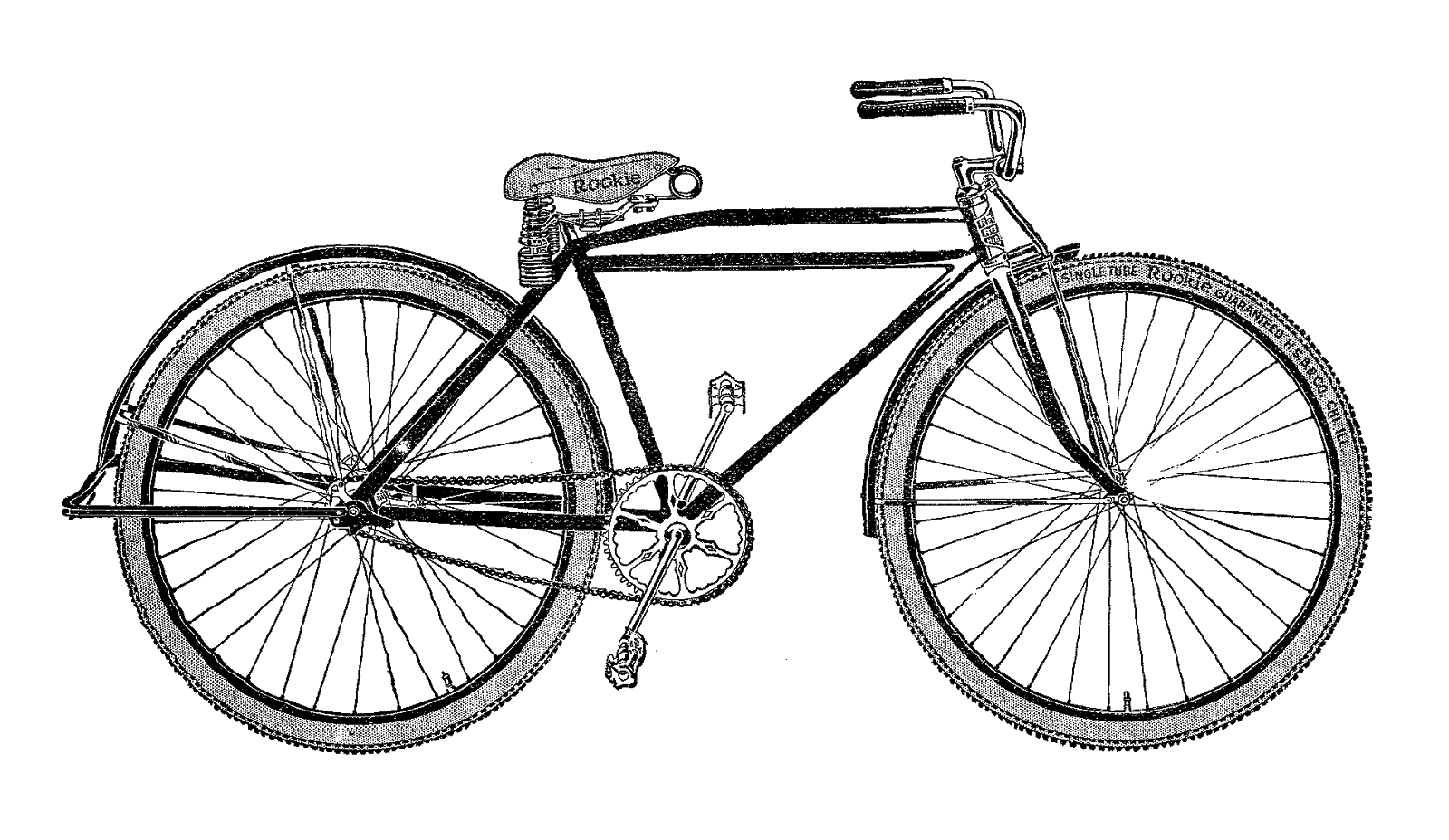 Check bike tires clipart black and white picture transparent download free bicycle clip art | Antique Images: Free Digital Bike Image ... picture transparent download