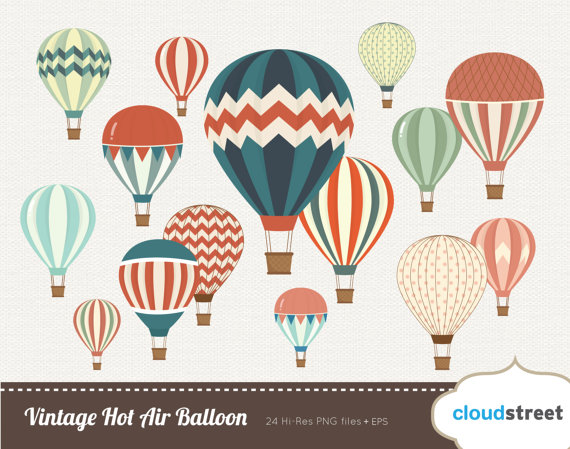 Free vintage clipart for commercial use clipart transparent library 20% OFF free Vintage Hot Air Balloon clipart for personal and clipart transparent library