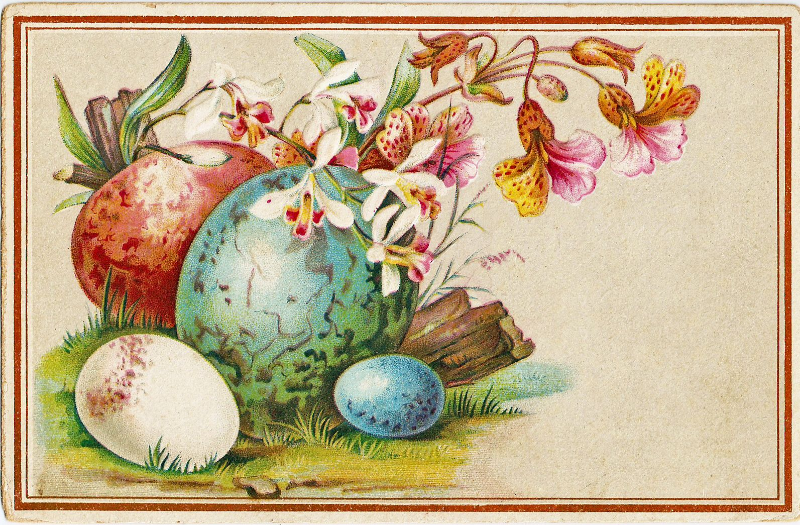 Free vintage easter clipart images royalty free CatnipStudioCollage-: Free Vintage Clip Art - Easter Eggs Trade Card ... royalty free