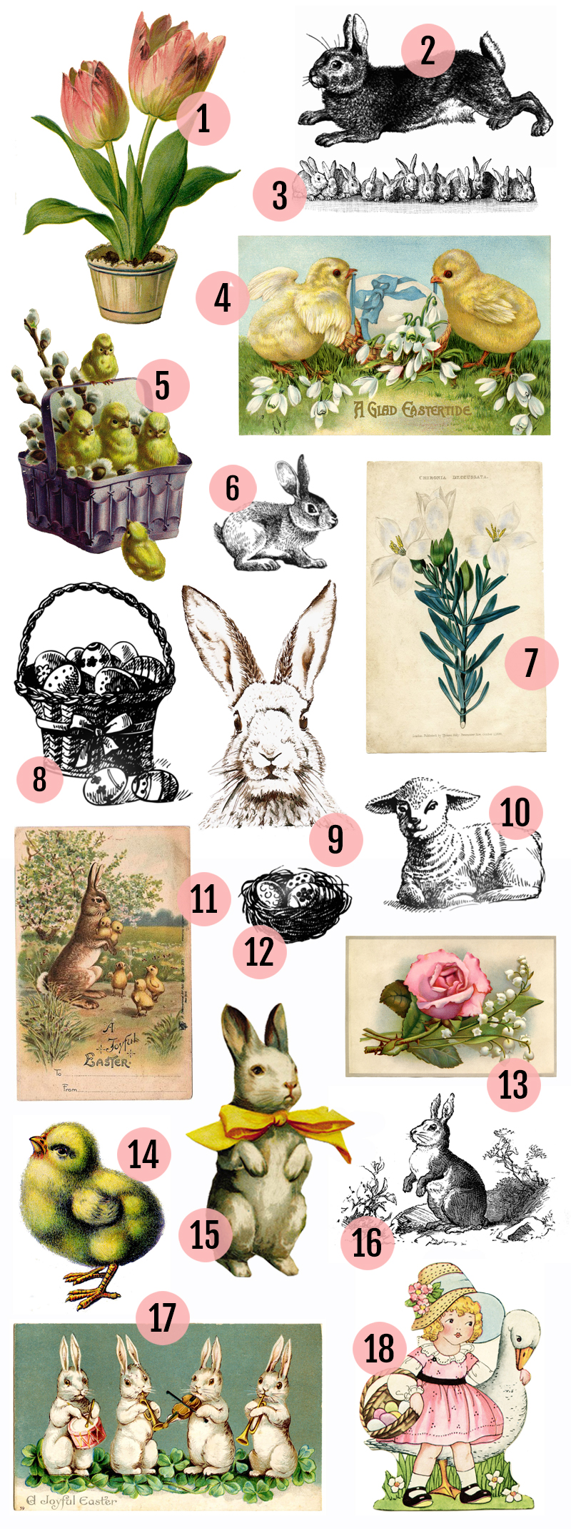 Free vintage easter clipart images svg stock Free Vintage Easter Clipart Images » Maggie Holmes Design svg stock