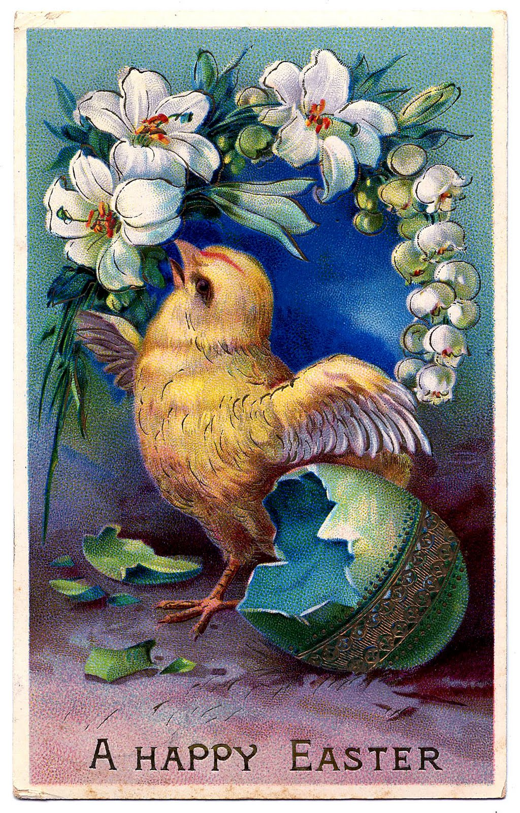 Free vintage easter egg clipart graphic freeuse stock Vintage Easter Clip Art - Sweet Baby Chick with Egg - The Graphics ... graphic freeuse stock