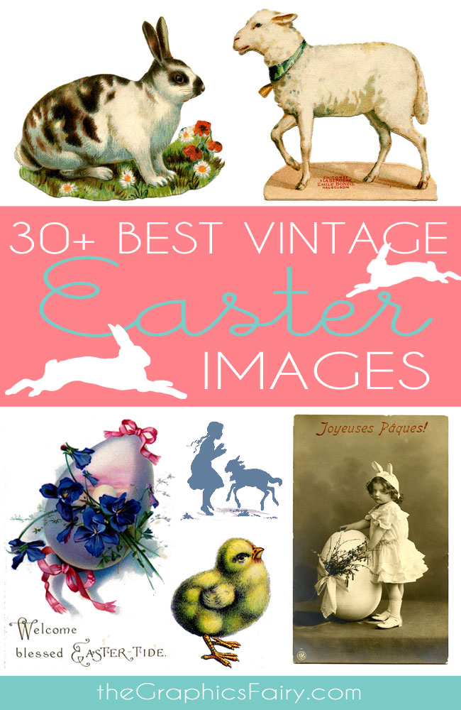 Free vintage easter egg clipart clipart black and white 30+ Best Vintage Stock Easter Images - Free - The Graphics Fairy clipart black and white