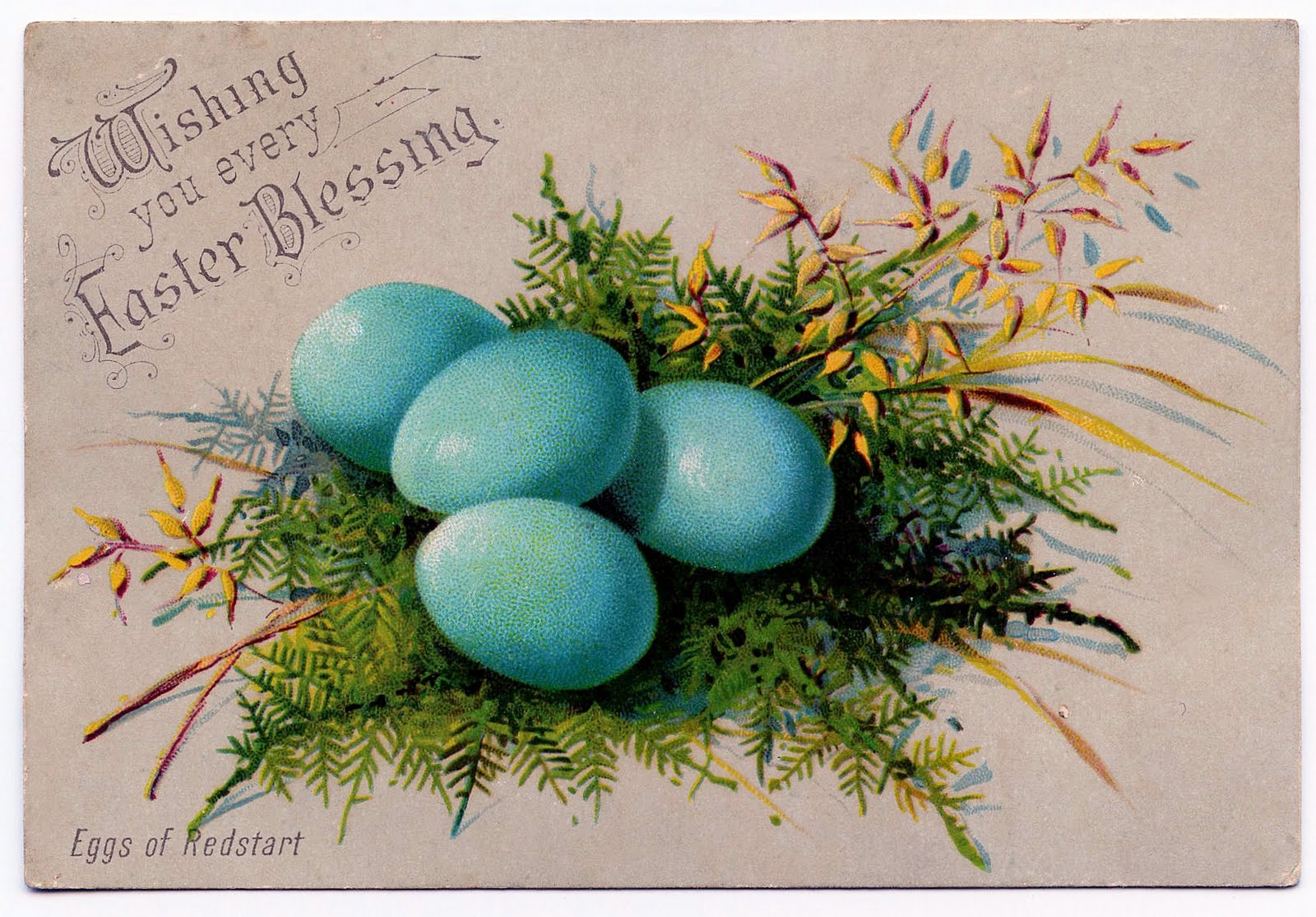 Free vintage easter egg clipart picture library stock Vintage Clip Art - So pretty - Easter Eggs - The Graphics Fairy picture library stock