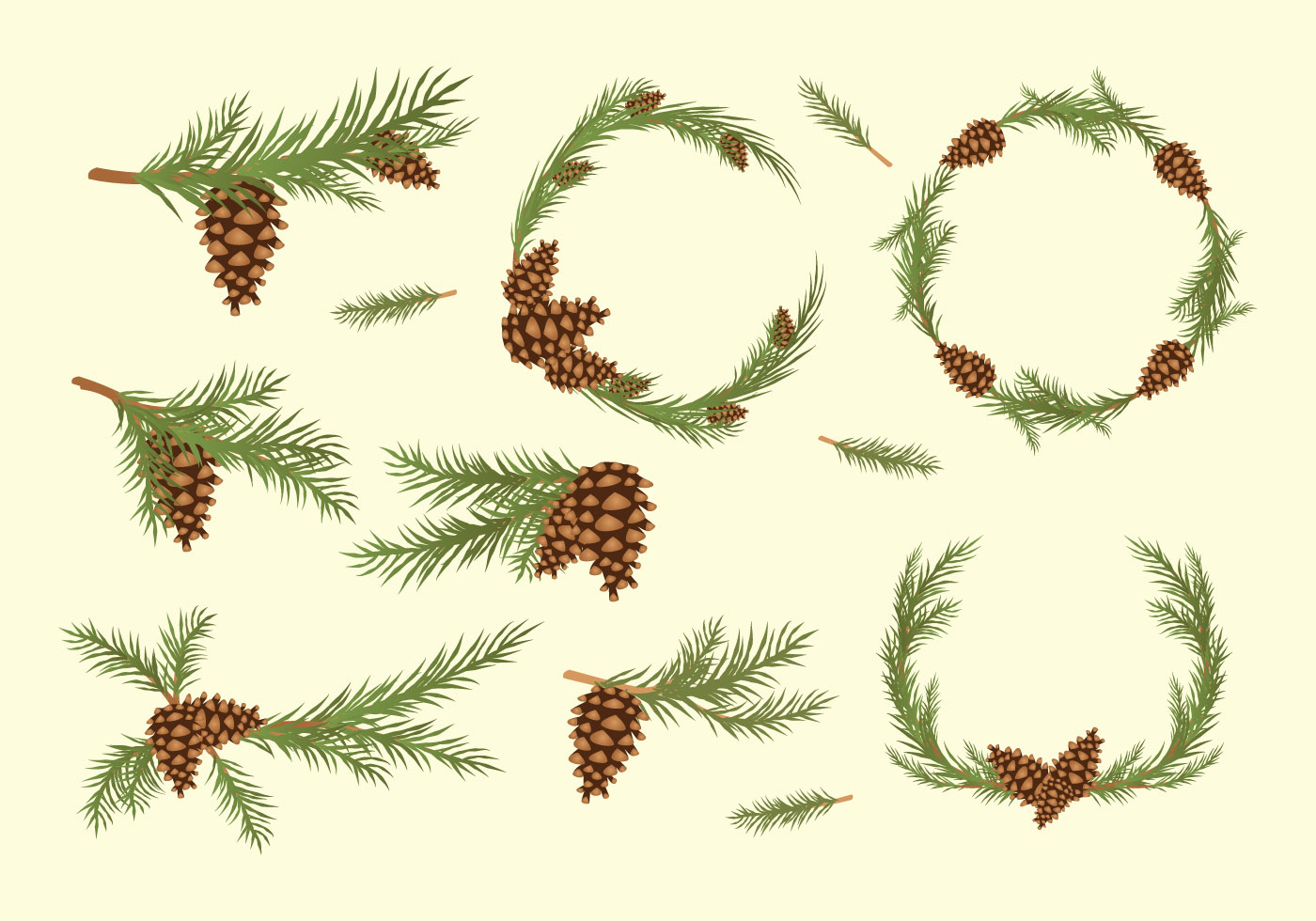 Free vintage pine cone holiday clipart clipart freeuse library Pine Cone Free Vector Art - (11,380 Free Downloads) clipart freeuse library