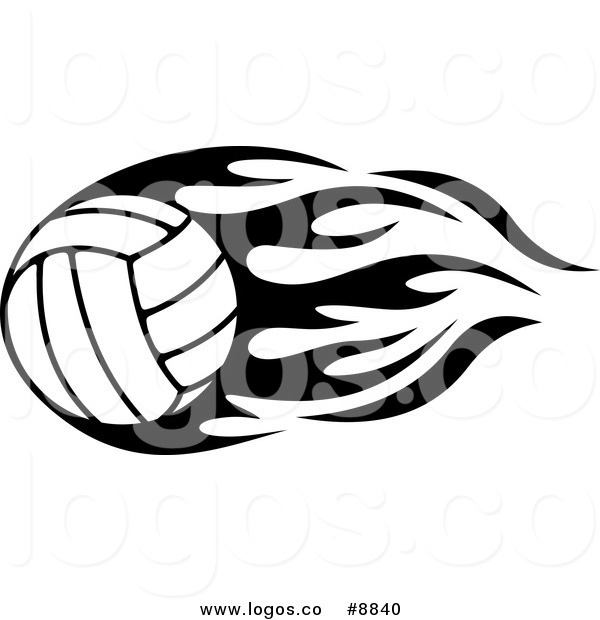 Free volleyball logos clipart png royalty free download Royalty Free Clip Art Vector Black and White Volleyball with Tribal ... png royalty free download