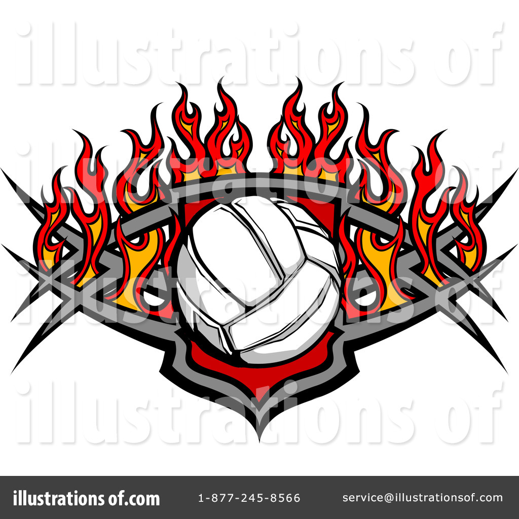 Free volleyball logos clipart jpg freeuse Volleyball Clipart #1087844 - Illustration by Chromaco jpg freeuse