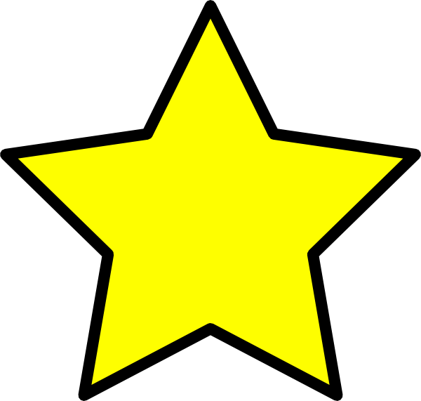 Hollywood star clipart