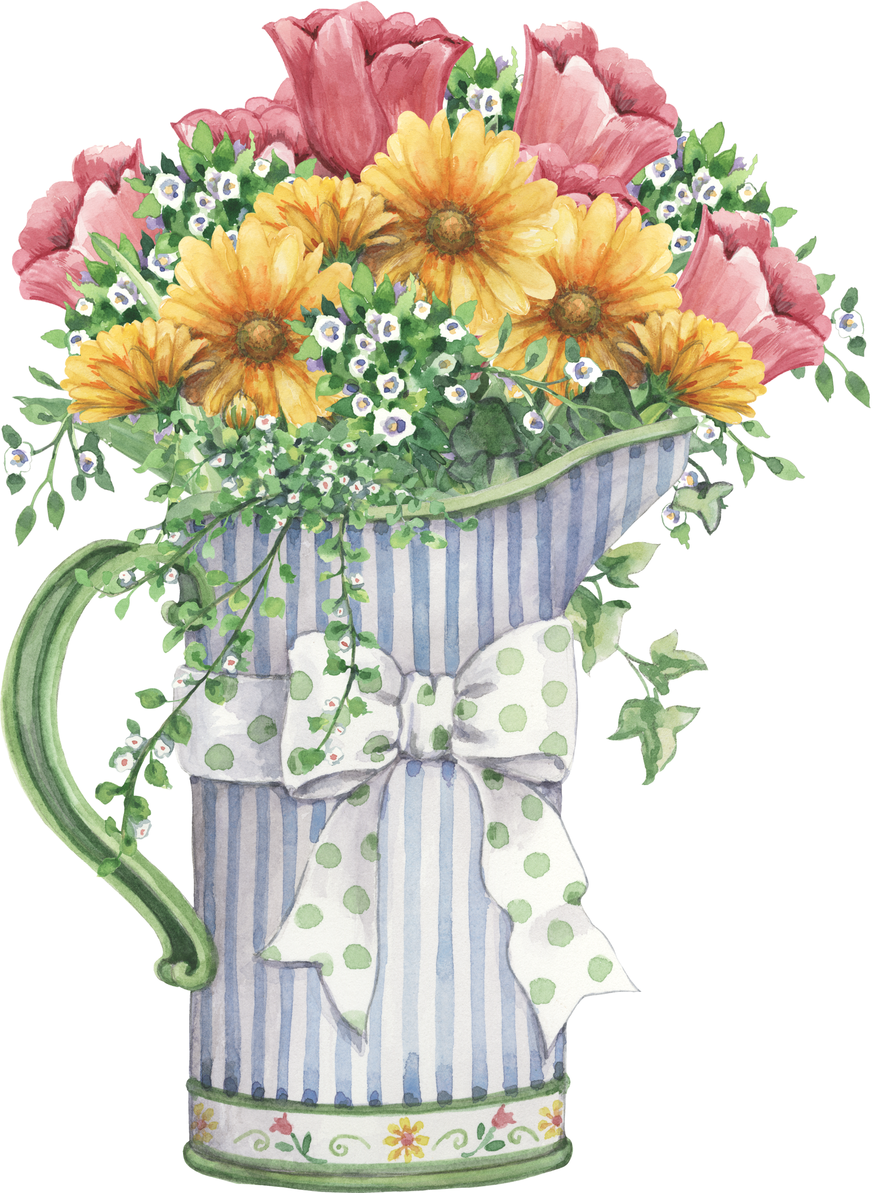 Free watercolor floral bushel clipart image black and white stock image only | FLOWERS | Decoupage printables, Flowers, Clip art image black and white stock