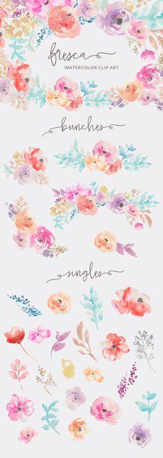 Free watercolor floral bushel clipart png free Pinterest png free