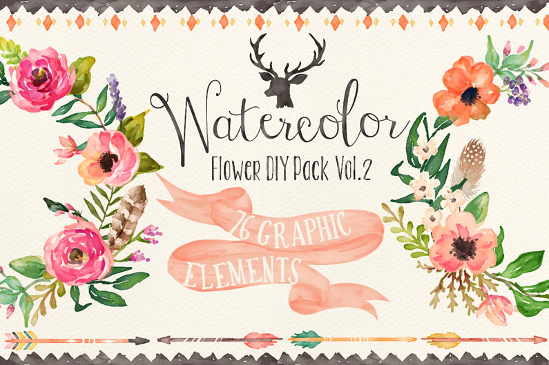 Free watercolor flower clipart picture transparent stock The Best Floral, Flower Clipart Graphics picture transparent stock