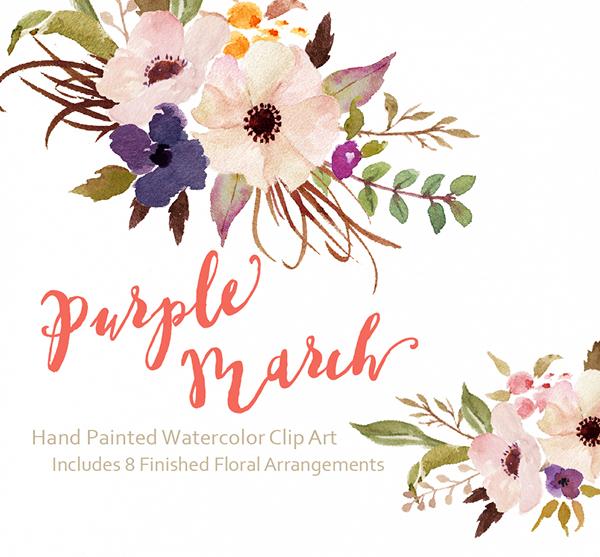 Free watercolor flower clipart clip art freeuse Free watercolor flower clipart - ClipartFest clip art freeuse