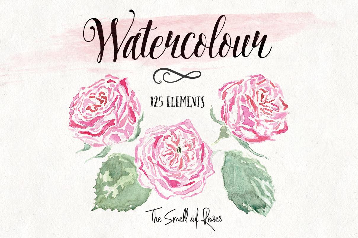 Free watercolor flower clipart clip freeuse download Free Flower Clip Art - The Smell of Roses The Smell of Roses clip freeuse download