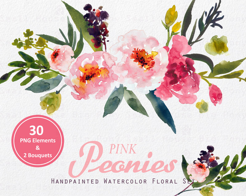 Free watercolor flower clipart graphic black and white Watercolor flower clipart png - ClipartFest graphic black and white