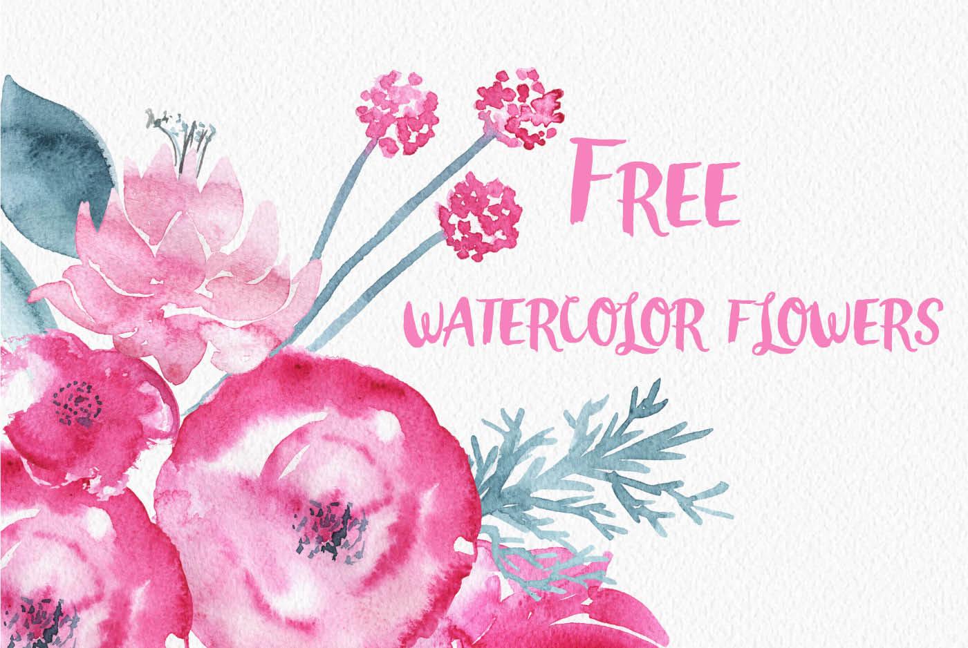 Free watercolor flower clipart jpg royalty free Free Watercolor Flowers by TheHungryJPEG   TheHungryJPEG.com jpg royalty free