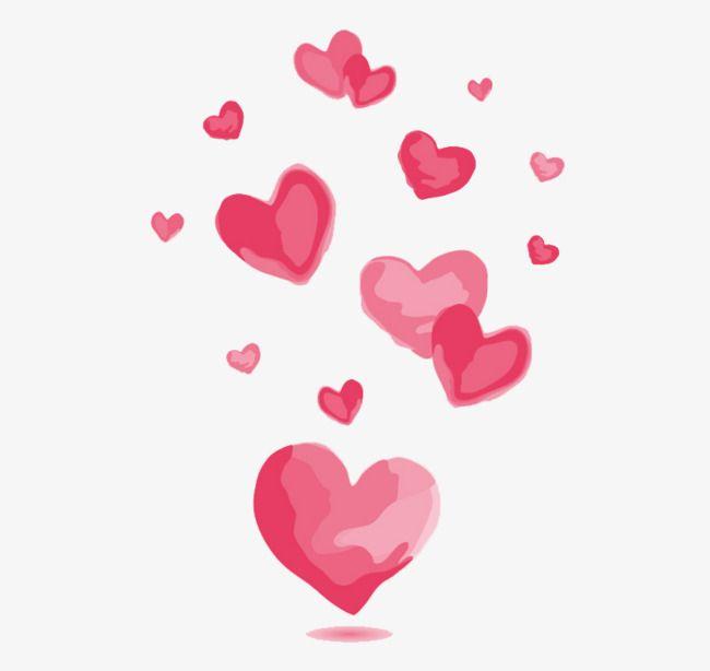 Free watercolor hearts png clipart vector Watercolor Pink Love Vector Material, Love, Pink, Watercolor Love ... vector