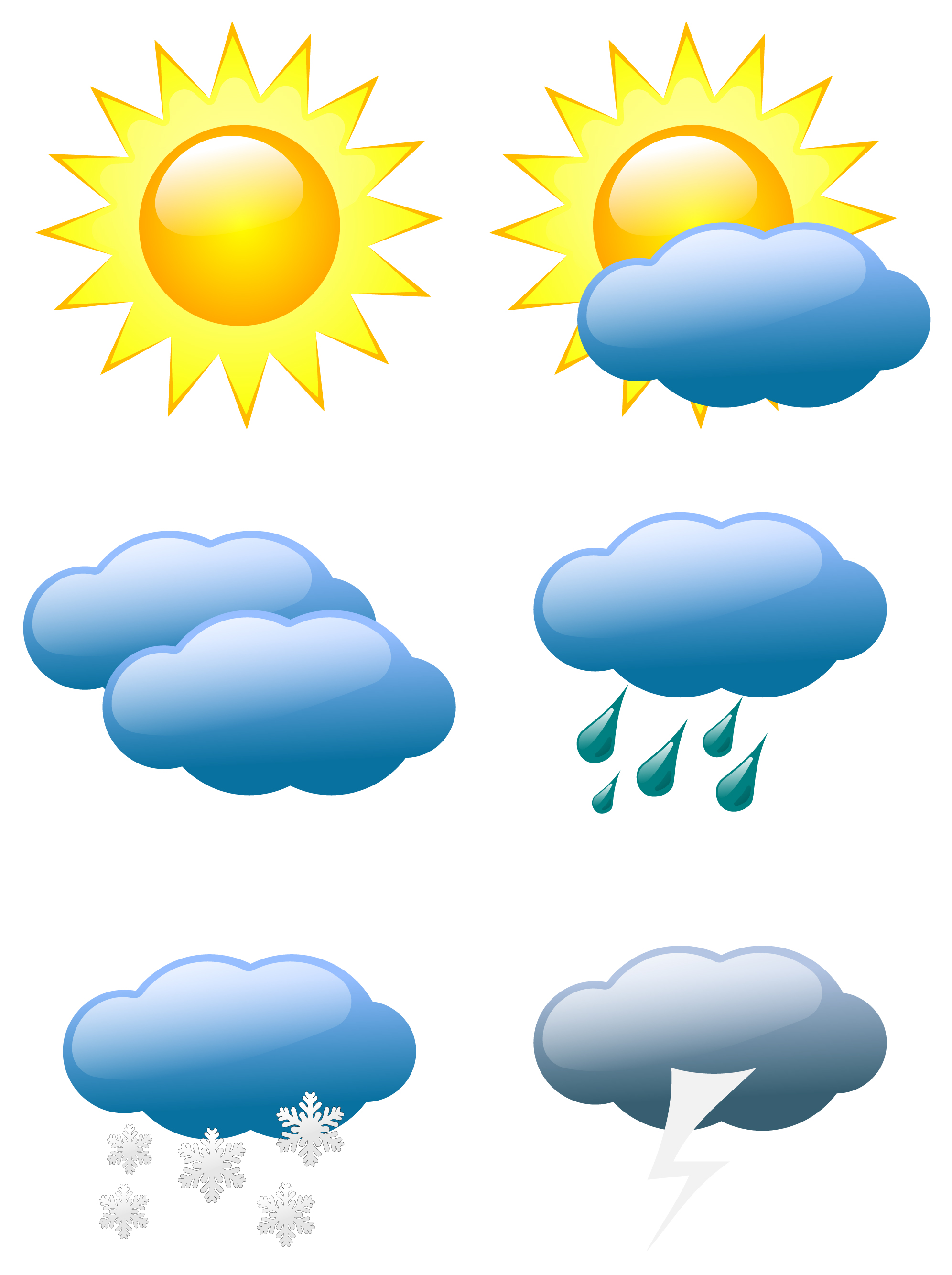 Free weather icons clipart jpg royalty free stock Free Weather Symbols Images, Download Free Clip Art, Free Clip Art ... jpg royalty free stock