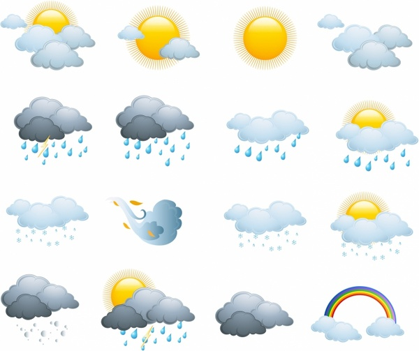 Free weather icons clipart clip art free download Weather icons, day forecast Free vector in Adobe Illustrator ai ... clip art free download