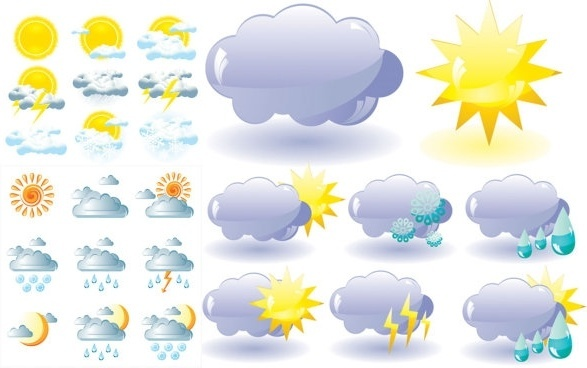 Free weather icons clipart banner stock Free vector weather icons free vector download (27,305 Free vector ... banner stock