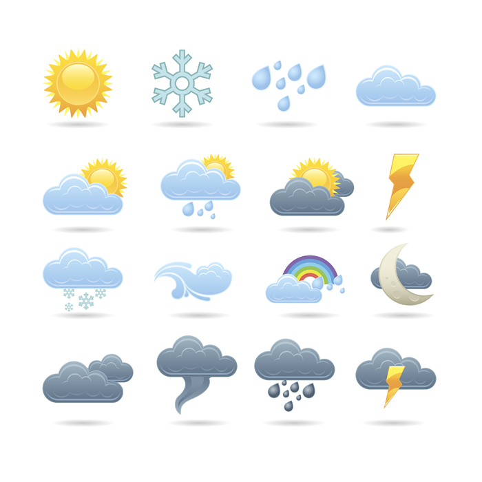 Free weather icons clipart jpg royalty free library 14 Free Weather Forecast Icons Images - Free Weather Icons Download ... jpg royalty free library