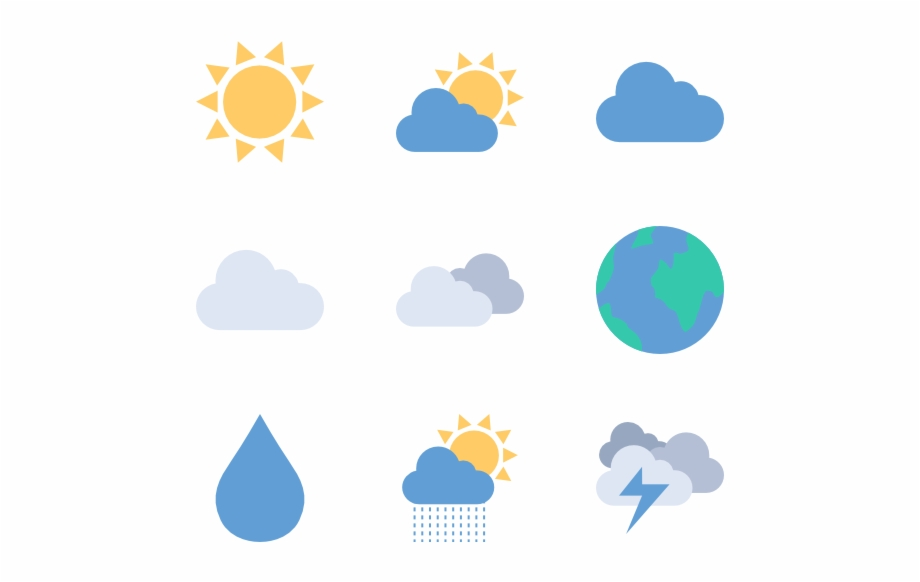 Free weather icons clipart png black and white download Icon Png Image - Transparent Weather Icons Png Free PNG Images ... png black and white download