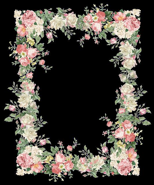 Free wedding banner clipart floral vintage rose vector black and white library free faux vintage flower frame png – Vintage Rosenrahmen – freebies ... vector black and white library