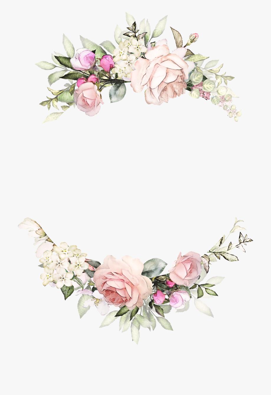 Free wedding banner clipart floral vintage rose jpg free Vintage Rose Wreath Invitations Paper Design Invitation - Floral ... jpg free