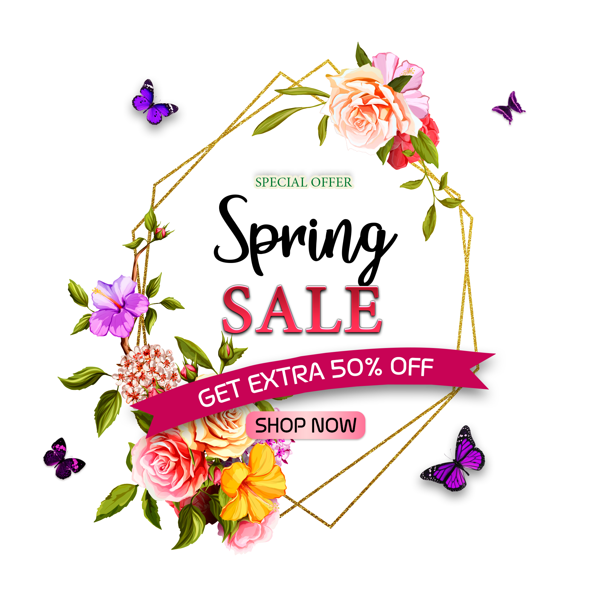 Free wedding banner clipart floral vintage rose library Spring Sale Background With Beautiful Flowers, Wedding, Invitation ... library