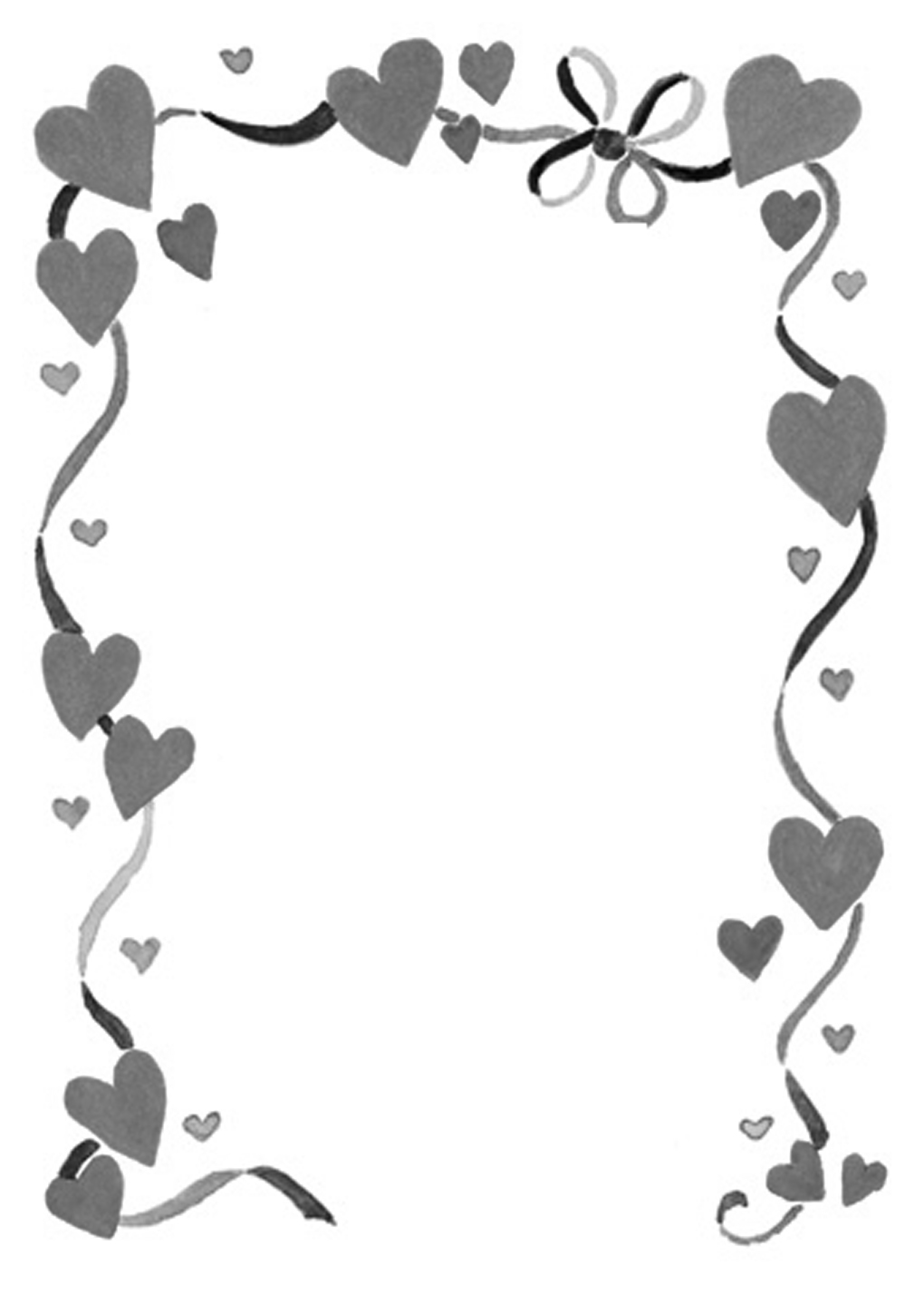 Word wedding clipart picture black and white stock Free Wedding Border Cliparts, Download Free Clip Art, Free Clip Art ... picture black and white stock