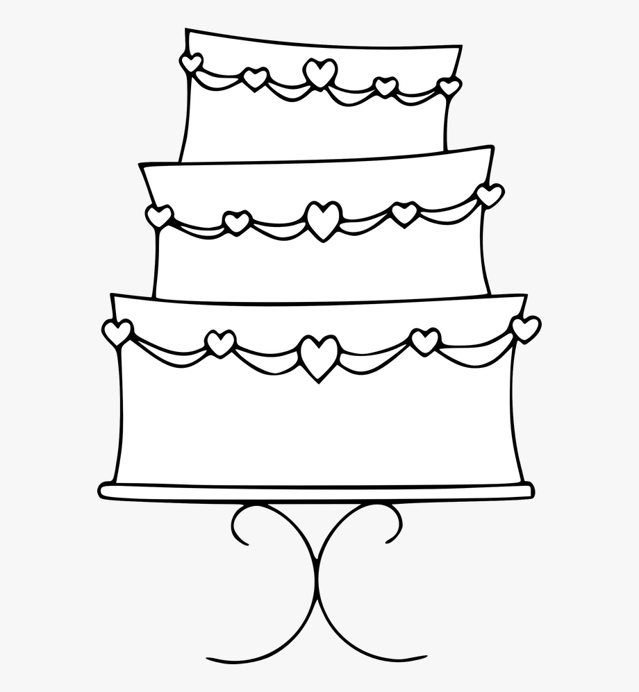 Wedding cake clipart free vector library Wedding Cake Clipart - Free Birthday Cake Template #574192 - Free ... vector library