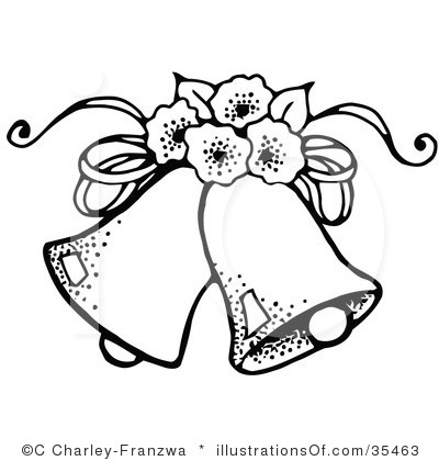 Sunflowers and wedding bells clipart picture library Wedding Clipart Black And White | Clipart Panda - Free Clipart Images picture library
