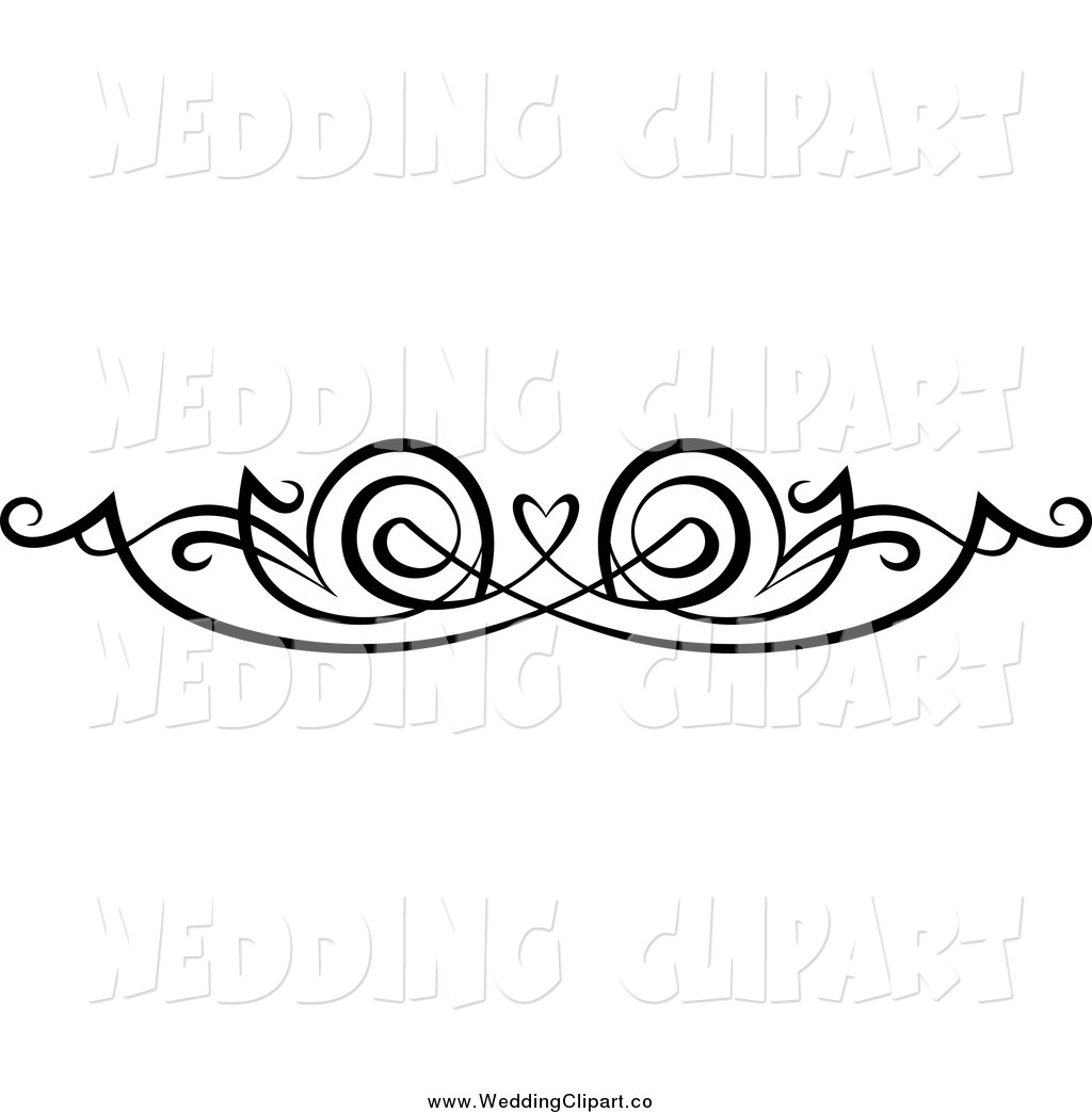 Free wedding clipart black and white bells and hearts clipart freeuse download Wedding Borders Clipart - Clipart Kid clipart freeuse download