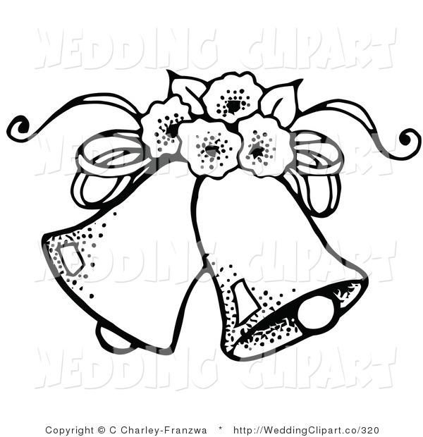 Free wedding clipart black and white bells and hearts image free stock Wedding clipart black and white free - ClipartFest image free stock