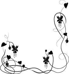 Free wedding clipart hearts banner library library black and white Heart Border free Clip Art | black wedding vine2 ... banner library library