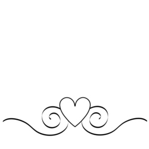 Free wedding clipart hearts clip art black and white download Elegant Heart Line Clipart - Clipart Kid clip art black and white download
