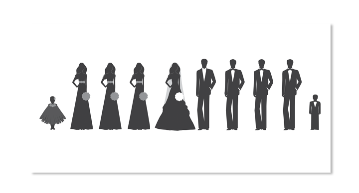 Free wedding party clipart vector freeuse download Wedding Party Silhouette Clipart Clipart - Page 2 of 2 - Clipart1001 ... vector freeuse download