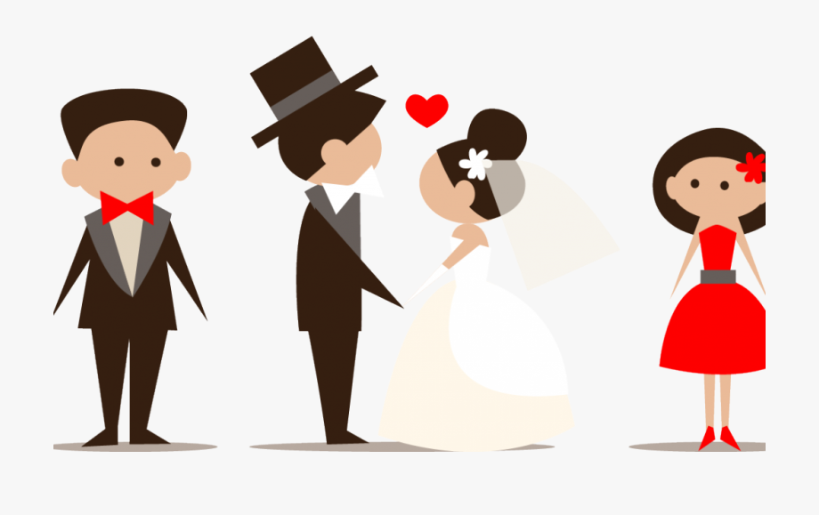 Free wedding party clipart png library Png Download Wedding Party Clipart - Bride And Groom Vector Png ... png library