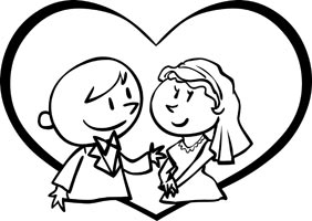 Wedding free clipart black and white stock Free Wedding Cliparts, Download Free Clip Art, Free Clip Art on ... black and white stock