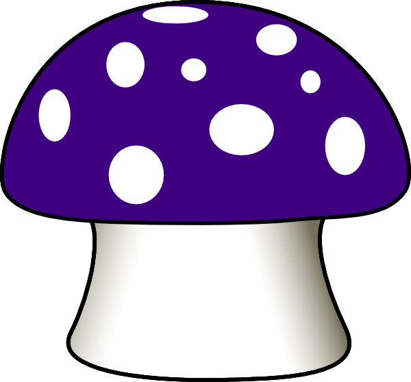 Free whimsical black and white mushrooms png free clipart graphic library download toadstool Clip Art | Purple Mushroom clip art - vector clip art ... graphic library download
