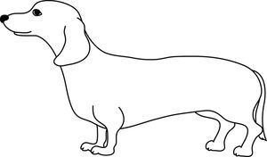 Free wiener dog clipart clip art free library Weiner Dog Clipart Image: Cute adult weiner dog or dachshund in ... clip art free library
