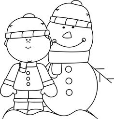Winter clipart black and white free jpg library 150 Best Clip Art-Winter images in 2018 | Christmas images ... jpg library