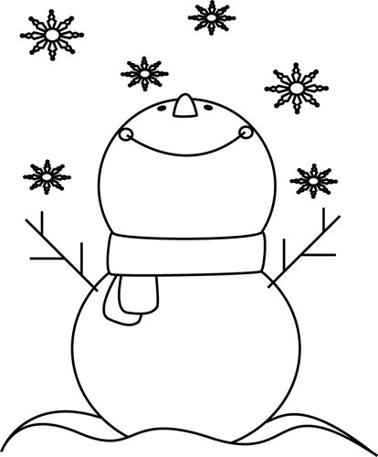 Sad looking snowman clipart black and white clip art transparent Black and White Snowman Catching Snowflakes Clip Art - Black and ... clip art transparent