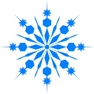 Winter clipart snow flakes