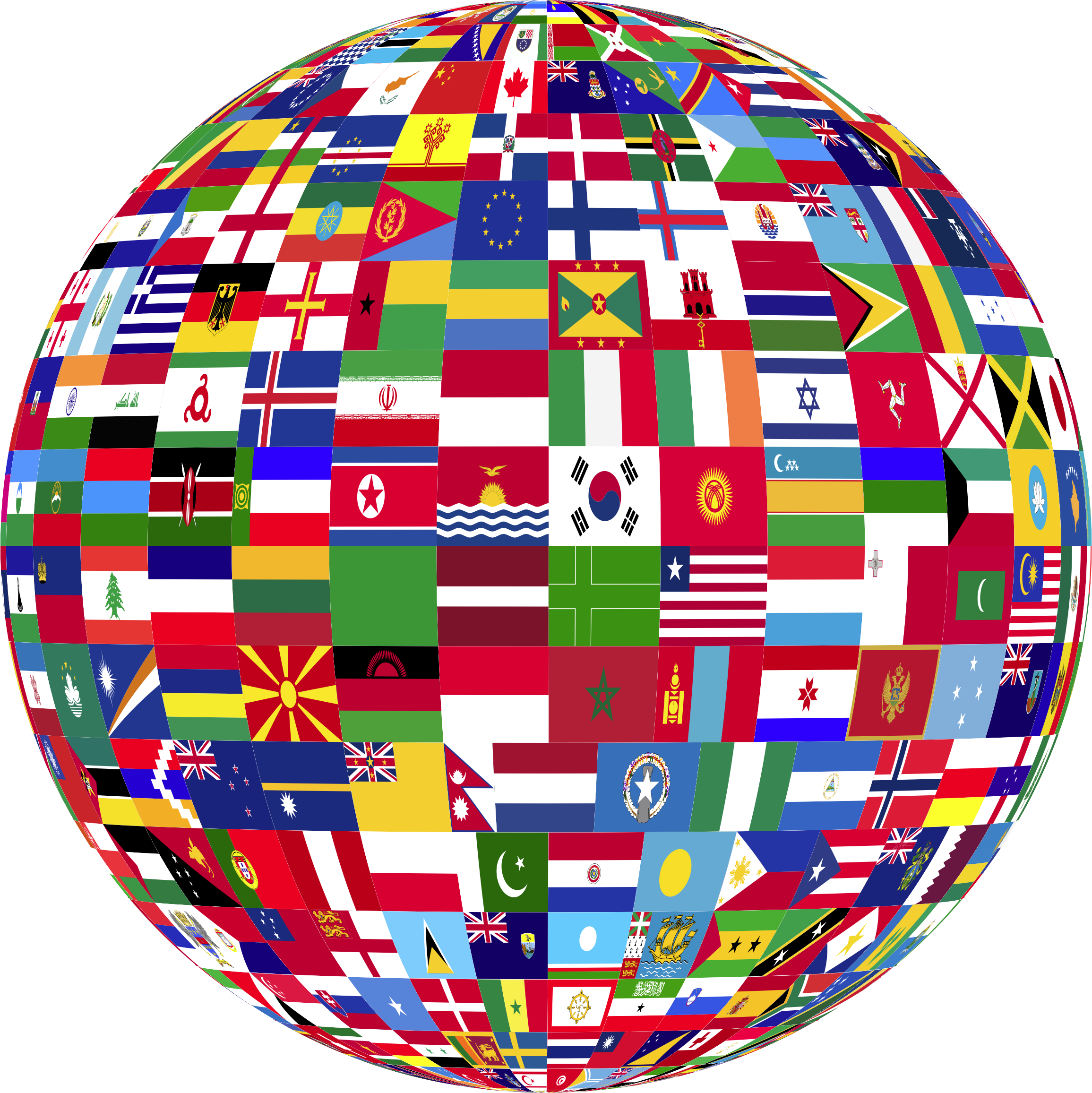 Free world flag clipart clip art black and white stock Globe with flags clipart images gallery for free download | MyReal ... clip art black and white stock