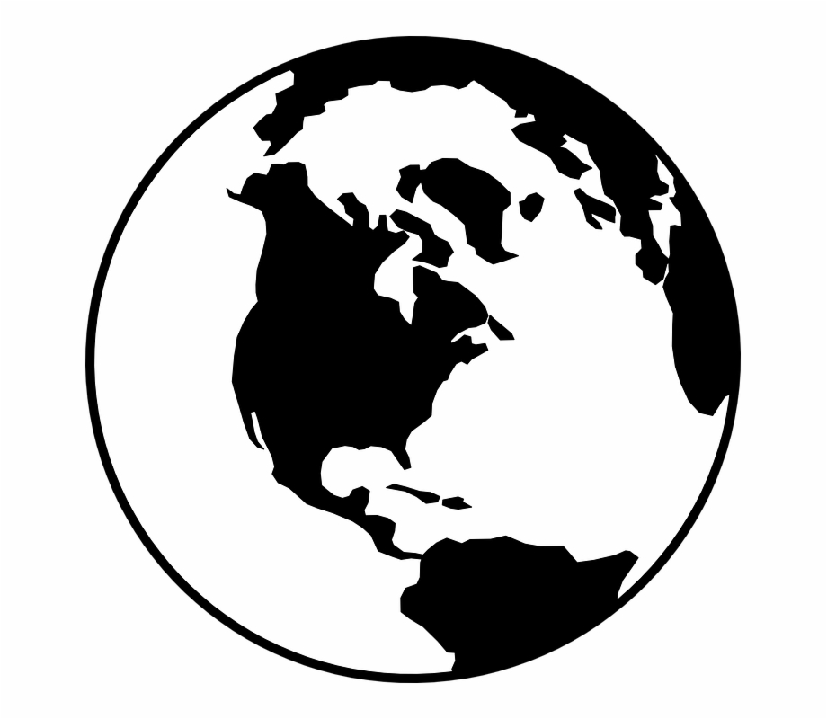 Free world globe clipart black and white banner transparent stock Globe World Earth - World Clipart Black And White, Transparent Png ... banner transparent stock