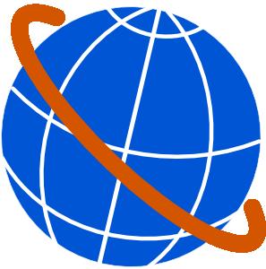 Free world map globe clipart clip art black and white Free clipart of a globe - ClipartFest clip art black and white