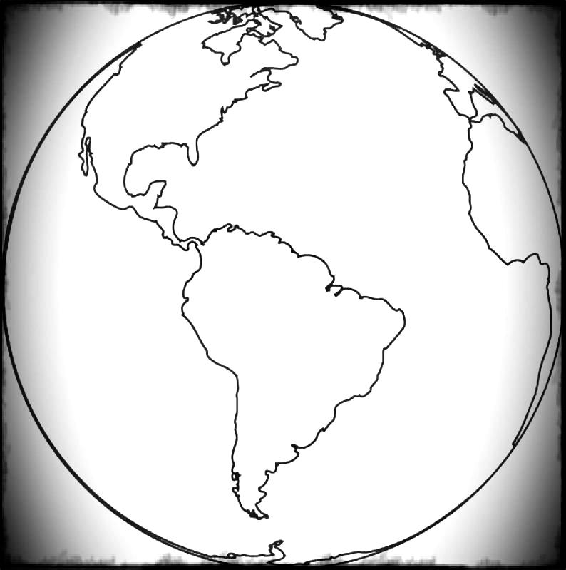 Free world map globe clipart black and white stock Printable Royalty Robinson Globe World Free Outline Maps Map Blank ... black and white stock