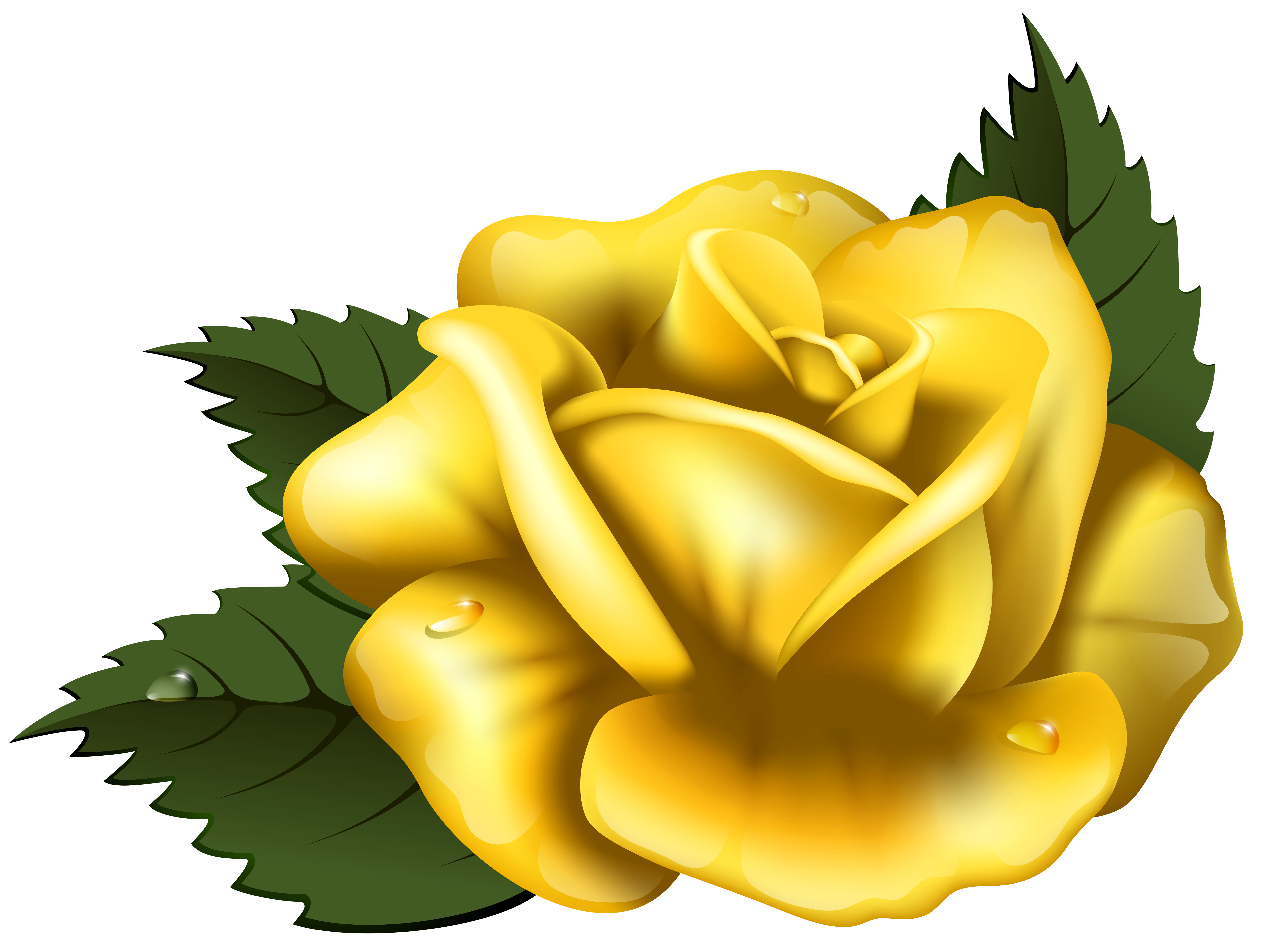Free yellow flower clipart free download Large Yellow Rose Transparent PNG Clip Art Image   Gallery ... free download