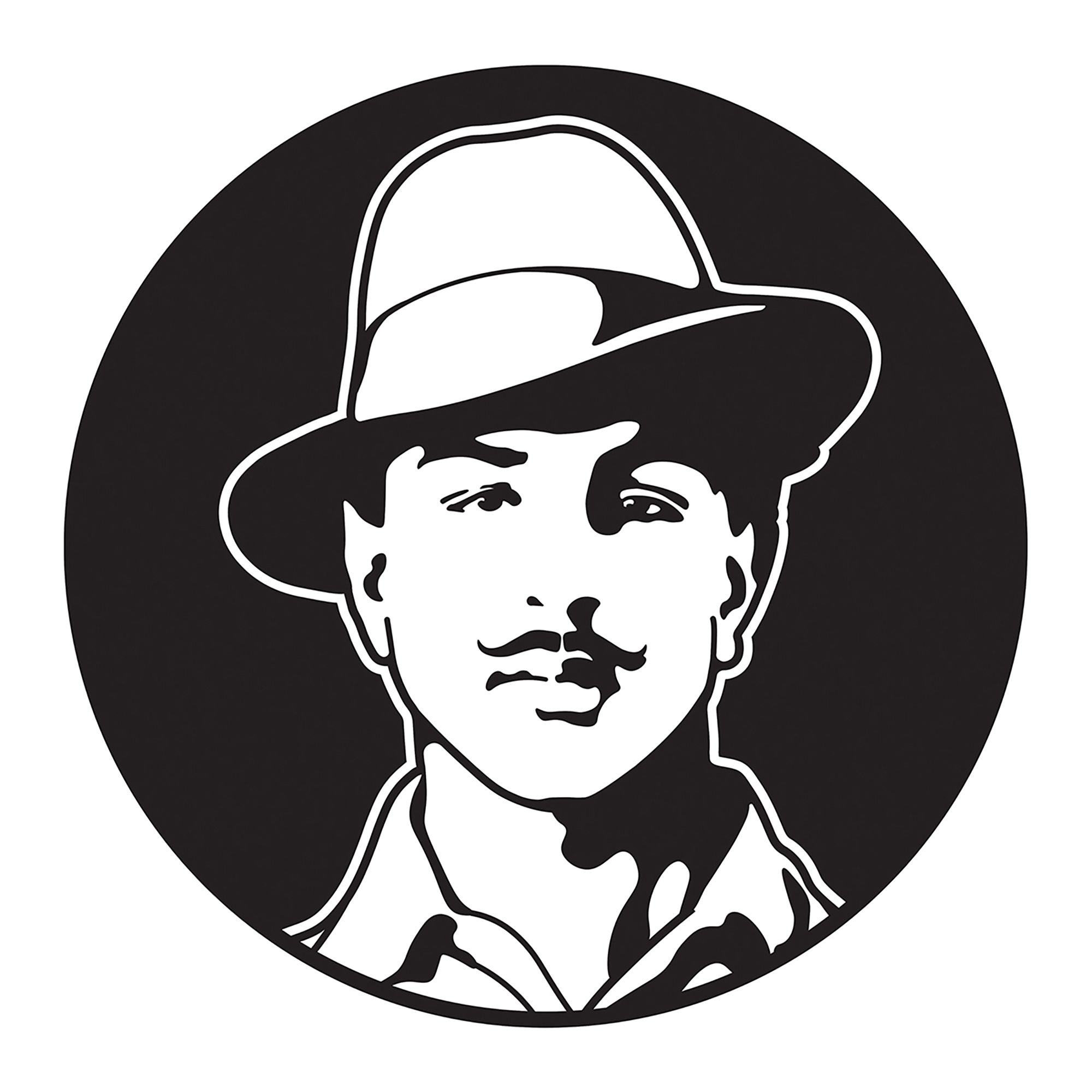 Freedom fighters clipart svg download Bhagat Singh was an Indian revolutionary socialist who was ... svg download